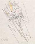 "Animation Art:Production Drawing, Hank Porter ""Gremlin"" WWII Insignia Illustration (Walt Disney,1940s)...."