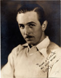 Animation Art:Photograph, Walt Disney Vintage Photograph by Tom Collins (c. 1932-33).... (Total: 2 Items)