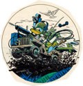 "Animation Art:Production Drawing, Hank Porter ""Donald Duck"" WWII Insignia Illustration (Walt Disney,c. 1940s)...."