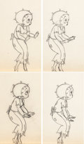 Animation Art:Production Drawing, Poor Cinderella Betty Boop Animation Drawing Sequence Groupof 16 (Max Fleischer, 1934).... (Total: 16 Original Art)