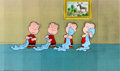Animation Art:Production Cel, Peanuts The Charlie Brown and Snoopy Show Linus ProductionCels Group (Bill Melendez, 1983)....