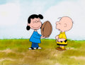 Animation Art:Production Cel, Peanuts The Charlie Brown and Snoopy Show Charlie Brown andLucy with Football Production Cel Setup (Bill Melendez...