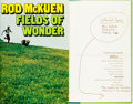 Books:Literature 1900-up, Rod McKuen. AUTHOR'S HAND CORRECTED COPY. Fields of Wonder.New York: Cheval Books and Random House, [1971]....