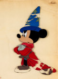 "Animation Art:Production Cel, Mickey Mouse Fantasia ""The Sorcerer's Apprentice"" ProductionCel (Walt Disney, 1940)...."