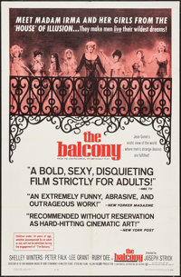 """The Balcony & Other Lot (Continental, 1963). One Sheets (2) (27"""" X 41"""") and Photos (3) (8"""" X 10&q..."""