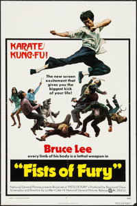"Fists of Fury (National General, 1973). One Sheet (27"" X 41"") & Photos (18) (8"" X 10""). Acti..."