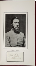 Military & Patriotic:Civil War, [John Bell Hood]: 31-page Manuscript Battle Reports....