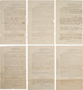 Military & Patriotic:Civil War, Group of Six Confederate Military Records. ... (Total: 6 Items)