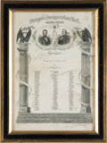 Military & Patriotic:Civil War, Lincoln & Johnson: Jugate Inauguration Ball Invitation....