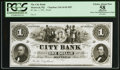 Canadian Currency: , Montreal, PQ- The City Bank $1 Jan. 1, 185_ Ch. # 110-14-02-02P....