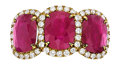 Estate Jewelry:Rings, Ruby, Diamond, Gold Ring, Piranesi. ...