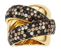 Estate Jewelry:Rings, Colored Diamond, Diamond, Gold Ring, Bessa. ...