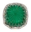 Estate Jewelry:Rings, Emerald, Diamond, Platinum, Gold Ring, David Webb. ...