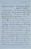 Military & Patriotic:Civil War, [Peace Conference of 1861]. Three Autograph Letters Signed by James Pollock.... (Total: 3 Items)