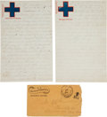 Military & Patriotic:Civil War, [End of War]. Two Letters from Union Soldier N.J. Rosenburg.... (Total: 2 Items)