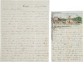 Military & Patriotic:Civil War, Two Letters from Union Soldiers in Transit. ... (Total: 2 Items)