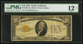Small Size:Gold Certificates, Fr. 2400 $10 1928 Gold Certificate. PMG Fine 12 Net.. ...