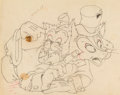 Animation Art:Color Model, Pinocchio Foulfellow and Gideon Color Model Drawing (WaltDisney, 1940)....