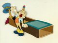 Animation Art:Production Cel, Pinocchio Jiminy Cricket Production Cel Setup (Walt Disney,1940)....