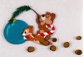 Animation Art:Color Model, Pluto's Christmas Tree Chip and Dale Color Model Cels (WaltDisney, 1952).... (Total: 2 Items)