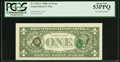 Error Notes:Third Printing on Reverse, Fr. 1915-C $1 1988A Federal Reserve Note. PCGS About New 53PPQ.. ...