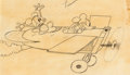 Animation Art:Production Drawing, Plane Crazy Mickey and Minnie Mouse Animation Drawing (Walt Disney, 1928/29)....