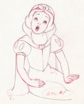 Animation Art:Production Drawing, Snow White and the Seven Dwarfs Animation Drawing (WaltDisney, 1937)....