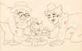 Animation Art:Production Drawing, Mickey's Gala Premier Mickey Mouse and Hollywood StarsAnimation Drawing (Walt Disney, 1933)....