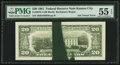 Error Notes:Ink Smears, Fr. 2073-J $20 1981 Federal Reserve Note. PMG About Uncirculated 55EPQ.. ...