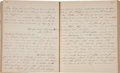 Military & Patriotic:Civil War, Post-War Journal of Transcribed Letters of Union Soldier....