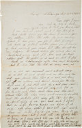 Military & Patriotic:Civil War, Battle of Chickamauga Union Soldier Letter....