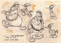 animation art:Model Sheet, Ace in the Hole Woody Woodpecker Model Sheet Art (WalterLantz, 1942)....