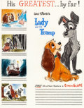 Animation Art:Concept Art, Lady and the Tramp Print Ad Concept Art (Walt Disney,1955).... (Total: 2 Items)