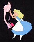 Animation Art:Production Cel, Alice In Wonderland Flamingo Croquet Production Cel (WaltDisney, 1951)....