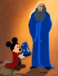"Animation Art:Limited Edition Cel, Fantasia - A Lesson Learned ""The Sorcerer's Apprentice""Limited Edition Cel #146/300 (Walt Disney, 1999)...."