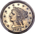 Patterns, 1853 E1C One Cent, Thin Planchet, Judd-150, Pollock-178, Low R.7, PR65 PCGS....