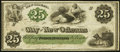 Obsoletes By State:Louisiana, New Orleans, LA- City of New Orleans 25¢ Oct. 24, 1862. ...
