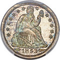 Proof Seated Dimes, 1853 10C Arrows PR66+ PCGS. CAC. F-101....