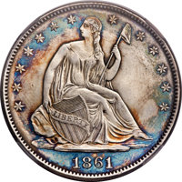 1861 50C Scott Restrike -- Improperly Cleaned -- NCS. AU Details. Breen-8002....(PCGS# 340402)