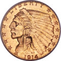 Indian Quarter Eagles, 1914-D $2 1/2 MS65 PCGS....