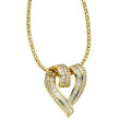 Estate Jewelry:Pendants and Lockets, Diamond, Gold Pendant-Necklace, Charles Krypell. ...