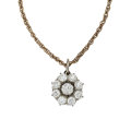 Estate Jewelry:Necklaces, Diamond, Platinum-Topped Gold, Gold Pendant-Necklace. ...