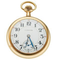 Timepieces:Pocket (post 1900), Hamilton 19 Jewels Series 952 Open Face Pocket Watch. ...