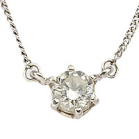 Diamond, Platinum Necklace