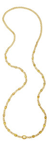 Estate Jewelry:Necklaces, Yellow Sapphire, Gold Necklace. ...