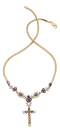 Estate Jewelry:Necklaces, Diamond, Amethyst, Gold Necklace. ...