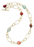 Estate Jewelry:Necklaces, Tourmaline, Gold Necklace. ...