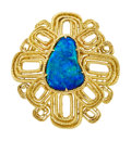 Estate Jewelry:Brooches - Pins, Black Opal Doublet, Gold Pendant-Brooch. ...