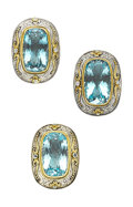 Estate Jewelry:Suites, Blue Topaz, Gold, Sterling Silver Jewelry Suite, Konstantino. ...(Total: 2 Items)