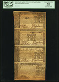 Colonial Notes:Maryland, Maryland April 10, 1774 $1/3, $2/3, $1, and $2 Vertical Strip of Four PCGS Apparent Choice About New 58.. ...